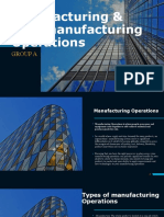 Manufacturing & Non-manufacturing Operations