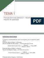 TEMA 1 - exercicios