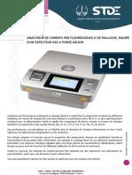 STDHX5000M -ANALYSEUR DE CIMENTS PAR FLUORESCENCE-X DE PAILLASSE, EQUIPE D'UN DETECTEUR SSD A PURGE HELIUM