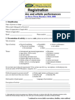 Registration form - OSF Activities