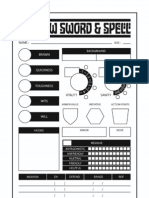 Shadow Sword & Spell Character Sheet