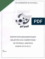 Dispositions Reglementaires 2018 2019