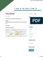 Protect Excel Workbook - Easy Excel Tutorial