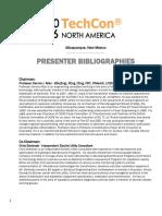 7.Presenter Biographies_TechCon North America 2016