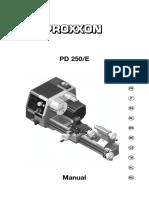 manual torno proxxon pd 250