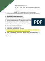 Research Framework - 2nd draft