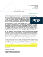 Scribd Letter to the Chancellor of the Exchequer Regarding Morganist Economics.