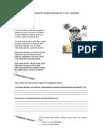 avaliação parcial de língua portuguesa 6º ano 2015
