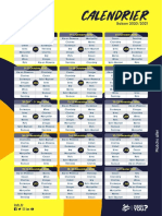 Calendrier Lidl Starligue 2020-2021 - Match aller-retour