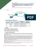 8.2.1.5 Lab - Configure IP SLA ICMP Echo - ILM