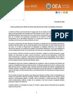 Informe de la Misión de Observadores de la OEA
