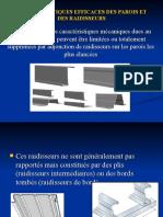 CARACTERISTIQUES EFFICACES DES PAROIS ET DES RAIDISSEURS