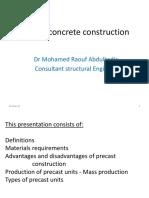 precast construction seminar