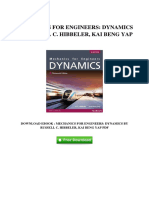[Z659.Ebook] Fee Download Mechanics For Engineers Dynamics By Russell C Hibbeler Kai Beng Yap.pdf