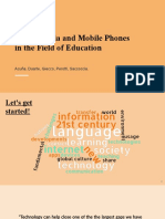 Social Media and Mobile Phones in the Field of Education