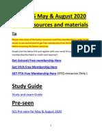 CIMA SCS (Strategic Case Study ) August 2020 Resources Free Download