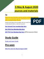 CIMA MCS (Management Case Study) - Gateway exam August 2020 resources