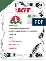 TRABAJO DE PREVENCION CONTRA COVID 19