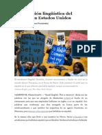 Tema 5 - La represión lingüística del español en Estados Unidos