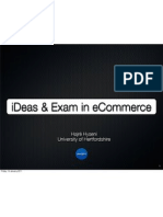 Lecture slides on iDeas and Exam in eCommerce