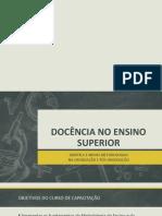 DOCÊNCIA NO ENSINO SUPERIOR - curso