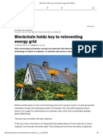 Blockchain holds key to reinventing energy grid _ HuffPost