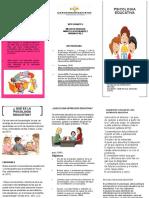 folleto de psicologia educativa