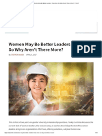 Women May Be Better Leaders Than Men, So Why Aren't There More_ - TLNT