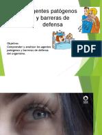 Agentes patogenos y barrera de defensa