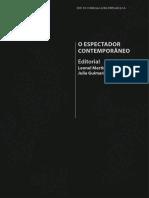 2016. MARTINS, L & GUIMARÃES, J. O Espectador Contemporâneo, 2016