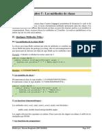 Chapitre 5 (les méthodes de classes)