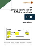 SPDH Terminal interface 3.1 rev11