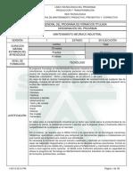 programa formativo Mantenimiento mecanico Industrial