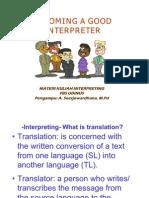 Materi Kuliah Interpreting