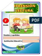 COMPRENSIÓN DE LECTURA 5TO GRADO