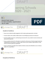 Draft of Brevard Public Schools Reopening