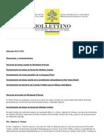 Boletín diario Vaticano 08 de Julio de 2020
