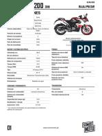 Manual Pulsar RS200 2019