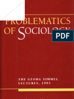 Smelser 1995 Problem a Tics of Sociology.the Georg Simmel Lectures