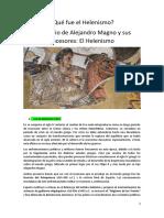 El Imperio de Alejandro Magno y sus sucesores. El Helenismo. El arte, la ciencia, el teatro y la filosofía. Alumnos con conexión