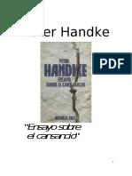 Handke Peter - Ensayo Sobre El Cansancio