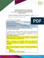 Guia de actividades y Rúbrica de evaluación Escenario 2 Comunicación en AVA