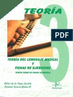 Teoría Del Lenguaje Musical y Fichas de Ejercicios Vol 3.