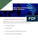 Sistema de Seguridad y Salud en El Trabajo Bajo La Norma ISO 45001 2018 - Módulo 02