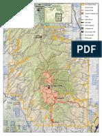 Vics Peak Fire map July 10, 2020