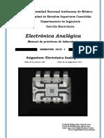 Manual Laboratorios Electrónica analógica