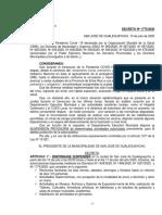 Decreto retroceso en Guale