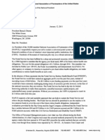 NAPUS letter to Obama on pension overfunding