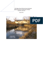 Quinlan Covered Bridge and Lewis Creek Area Analysis Report, 2010