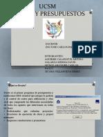 Costos y presupuestos exposición de programas